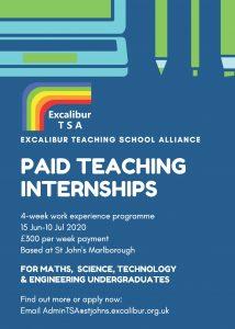 Internship flyer