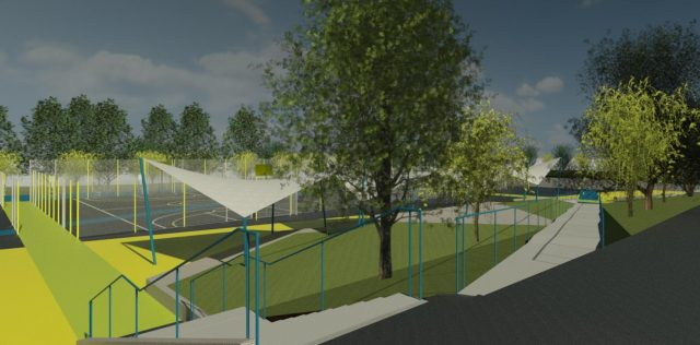 New sports build Exterior view